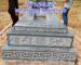 Mẫu mộ tam cấp bằng đá xanh rêu lắp đặt tại Hà Nội