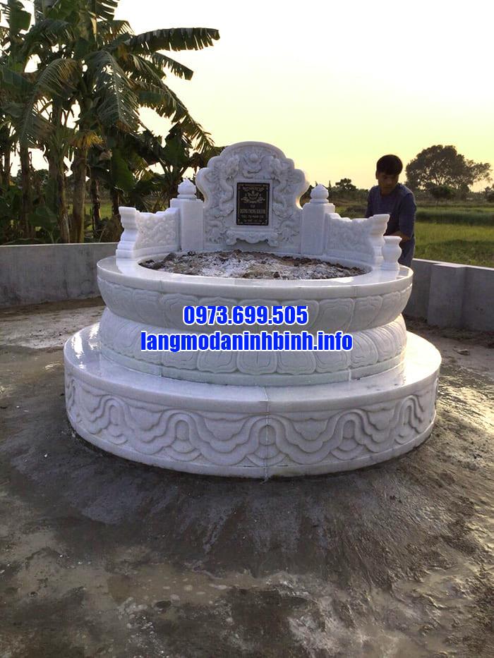 Những mẫu lăng mộ đá tròn đẹp tại Ninh Vân