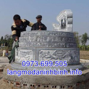 Báo giá mộ tròn chính xác nhất tại Ninh Vân Ninh Bình