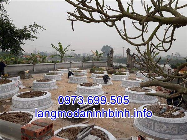 Khu lăng mộ đá tròn đẹp được chế tác tại làng nghề đá mỹ nghệ Ninh Vân, Ninh Bình