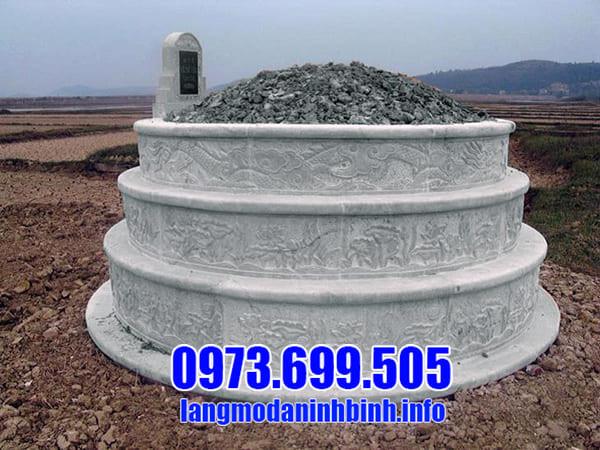 Địa chỉ chế tác mộ tròn đá xanh uy tín