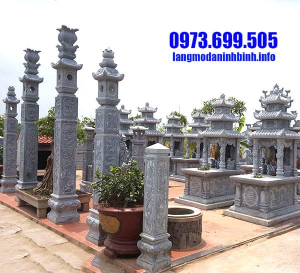 Lăng mộ đá dòng họ đẹp tại Ninh Vân