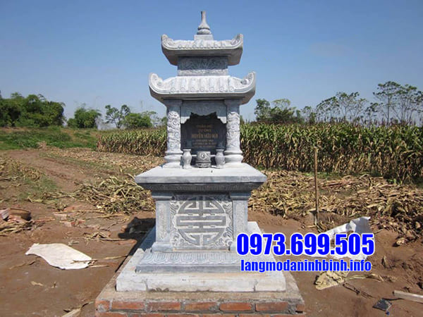 Lăng mộ đá hai mái đẹp tại Ninh Vân