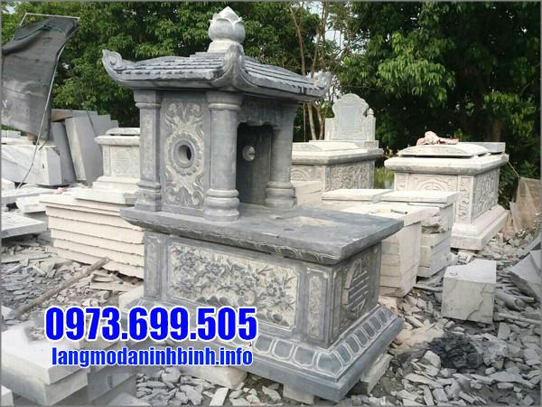 Mẫu lăng mộ đá 1 mái đẹp tại Ninh Vân