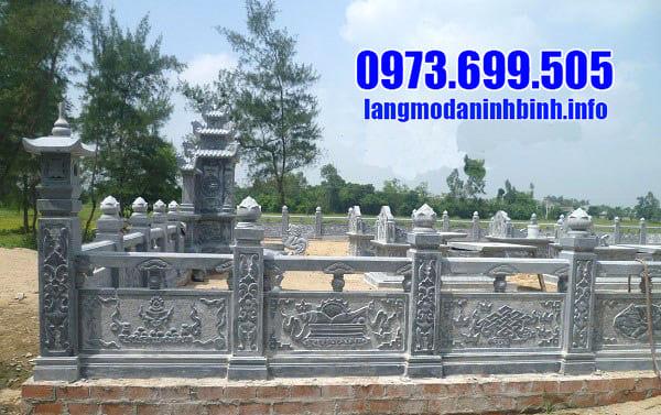 Mẫu lăng mộ đá dòng họ đẹp tại Ninh Vân