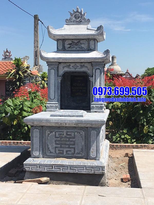 Mẫu lăng mộ đá hai mang đang được ưa chuộng tại Ninh Vân