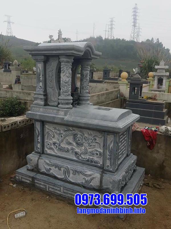 Mẫu lăng mộ đá một mái đẹp tại Ninh Vân