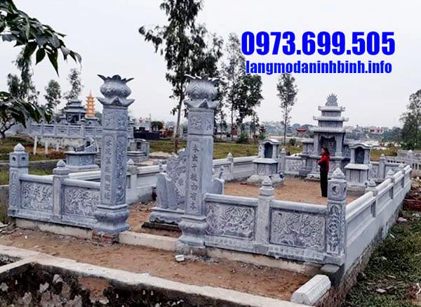 Mẫu lăng mộ đá tâm linh đẹp tại Ninh Vân