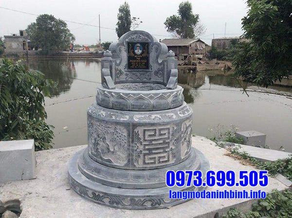 Mẫu mộ tròn đá đẹp Thanh Hóa