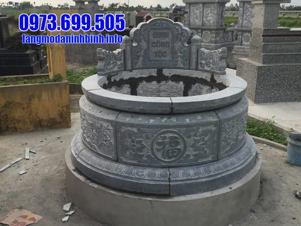 Mẫu mộ tròn đá xanh Thanh Hóa