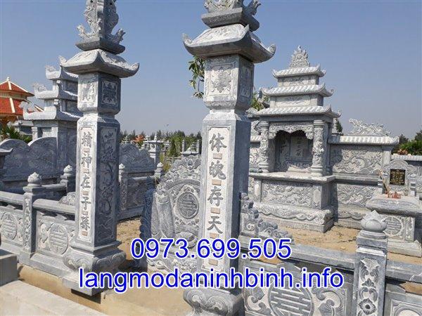 Mẫu cổng đá lăng mộ đẹp nhất hiện nay được chế tác tại Ninh Vân, Ninh Bình