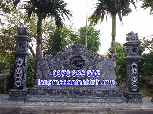Mẫu cuốn thư đá cổng nhà thờ họ đẹp nhất hiện nay bán tại Hà Nội