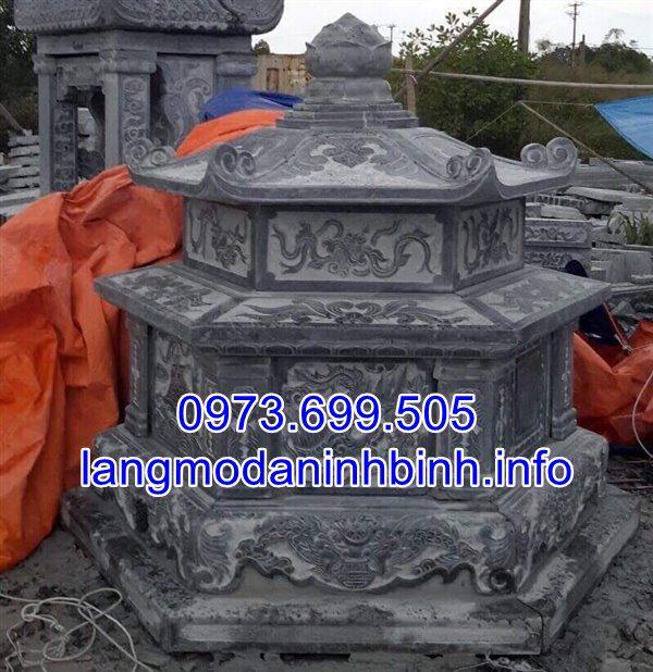 Mộ lục giác bằng đá nguyên khối đẹp được chế tác tại Ninh Vân Ninh Bình