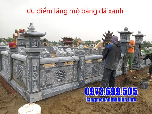 Ưu điểm của lăng mộ bằng đá xanh