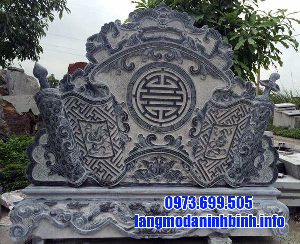 Bình phong đá khu lăng mộ