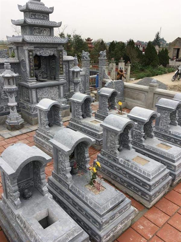 Khu lăng mộ tổ bằng đá đẹp thiết kế hợp theo phong thủy