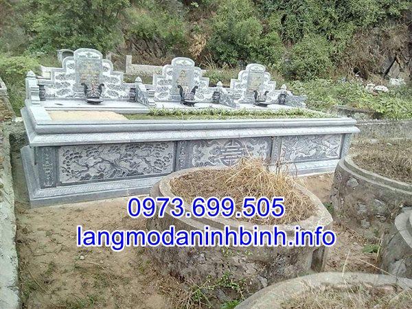 Nhận lắp đặt mẫu mộ cụ tổ bằng đá xanh nguyên khối tự nhiên