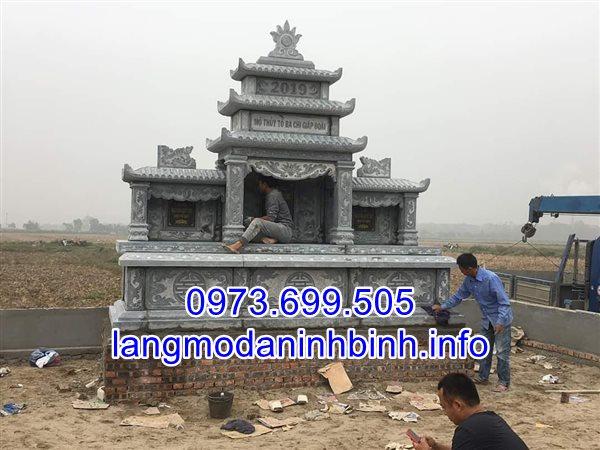 Nhận lắp đặt mẫu mộ cụ tổ bằng đá đẹp uy tín chất lượng trên toàn quốc