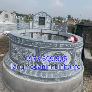 Xây mộ cụ tổ đẹp bằng đá khối tự nhiên chất lượng cao giá tốt
