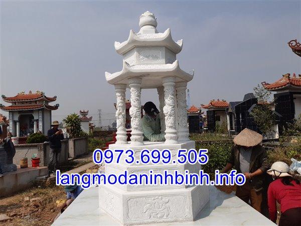 Mẫu mộ tổ đẹp bằng đá trắng nguyên khối