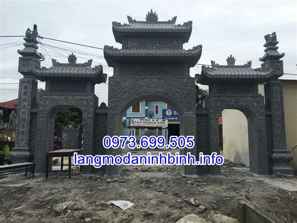 100 Hình ảnh mẫu cổng tam quan bằng đá mới nhất hiện nay tai Ninh Bình