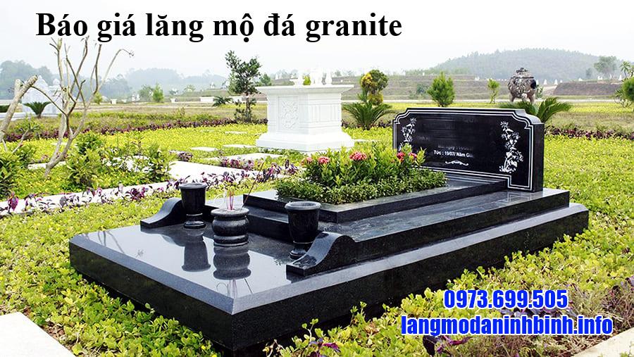 Báo giá lăng mộ đá granite