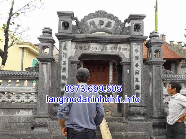 Báo giá cổng đá đình chùa nhà thờ họ chính xác nhất hiện nay