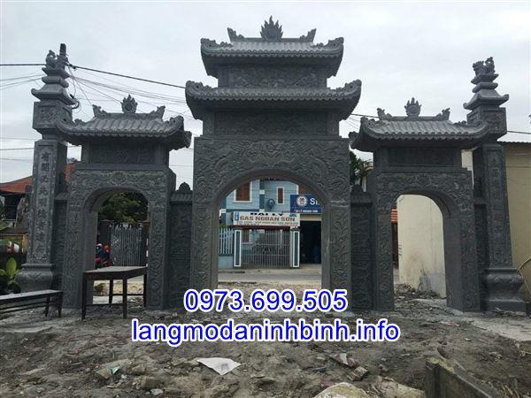 Địa chỉ bán mẫu cổng đình chùa nhà thờ họ bằng đá uy tín chất lượng nhất hiện nay;