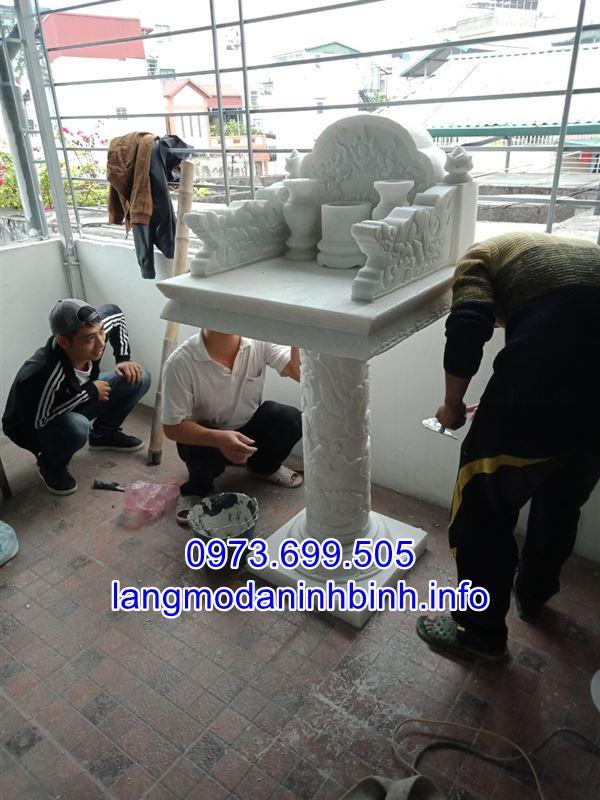 Hình ảnh lắp đặt mẫu cây hương đá trắng tai Hà Nội