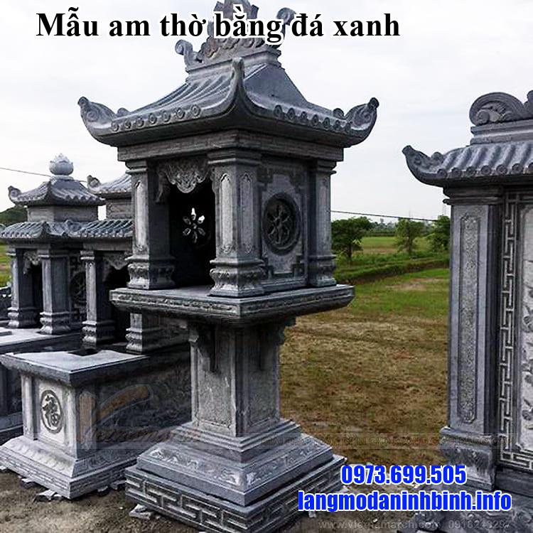 Mẫu am thờ bằng đá xanh