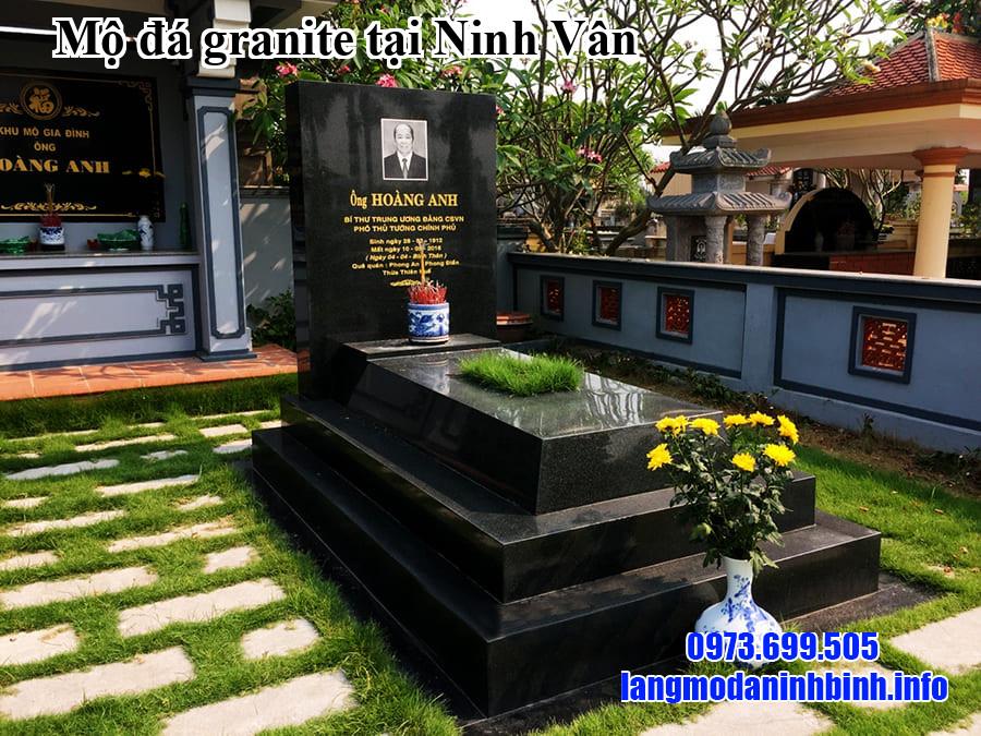 Mộ đá granite tại Ninh Vân
