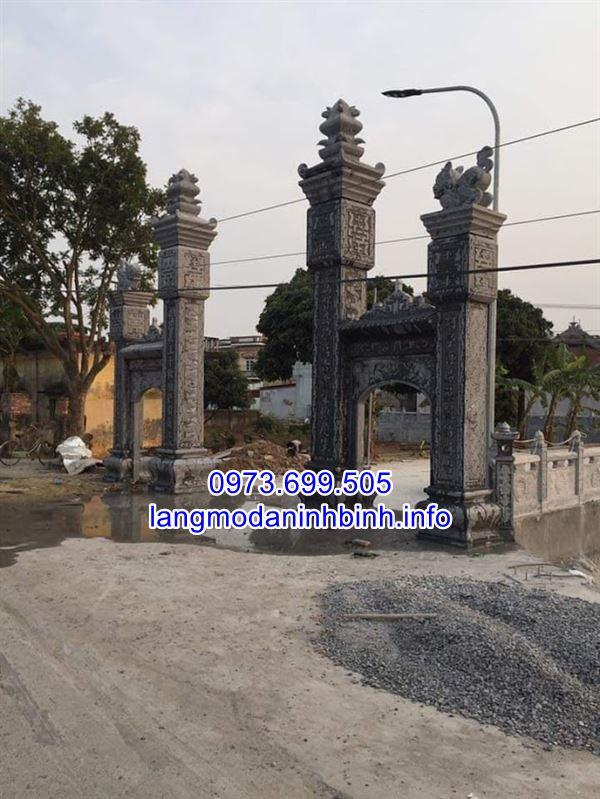 Mẫu cổng đá- cổng đá đình chùa, nhà thờ họ đẹp nhất hiện nay;