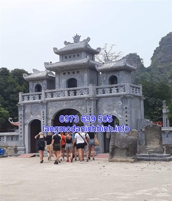 Mẫu cổng đá đình chùa, nhà thờ họ đẹp nhất hiện nay