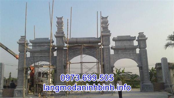 Mẫu cổng làng, cổng đình chùa, cổng nhà thờ họ bằng đá đẹp nhất hiện nay;