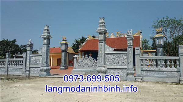 Mẫu cổng nhà thờ họ bằng đá đẹp thiết kế đơn giản giá hợp lý