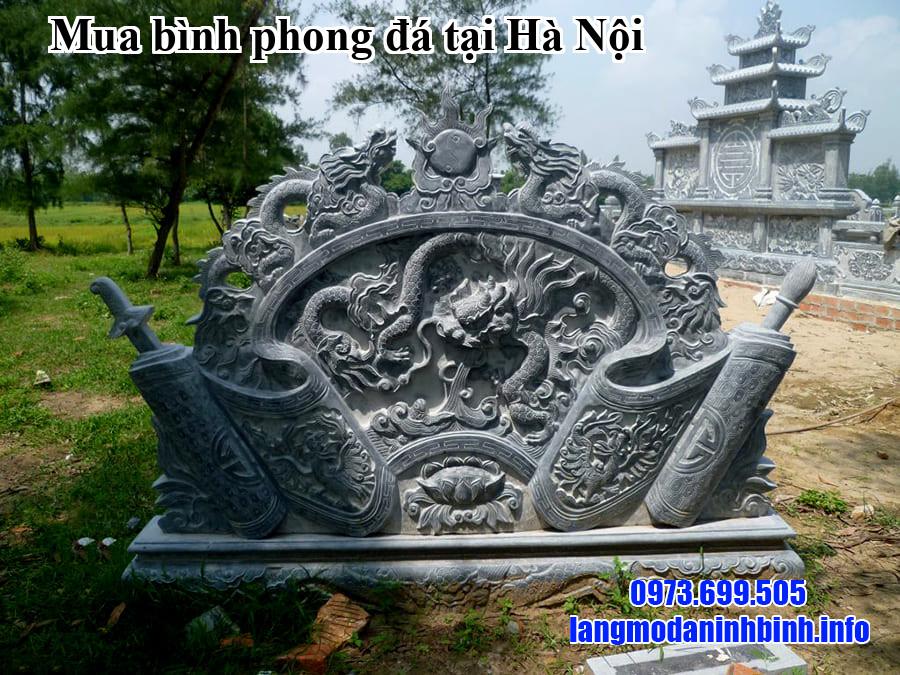 Mua bình phong đá tại Hà Nội