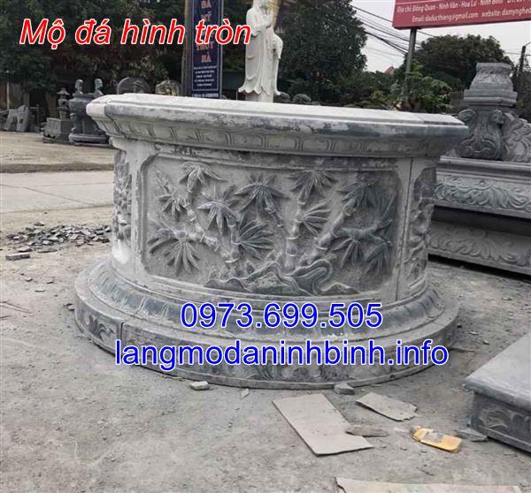 Địa chỉ xây mẫu mộ đá tròn uy tín tai Ninh Bình