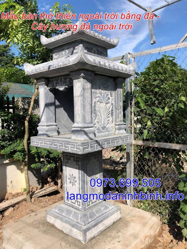 Địa chỉ bán bàn thờ thiên bằng đá - cây hương đá - am thờ đá - khóm thờ đá - miếu thờ đá uy tín