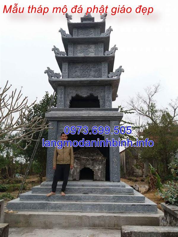 Địa chỉ thi công tháp mộ đá phật giáo uy tín tại Ninh Bình
