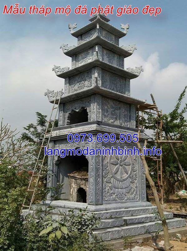 Hình ảnh 40 mẫu tháp mộ đá phật giáo đẹp được chế tác tại Ninh Bình 01