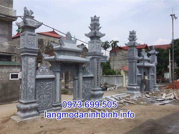 Hình ảnh mẫu cổng đá Tự nhiên đẹp được chế tác tai Ninh Bình