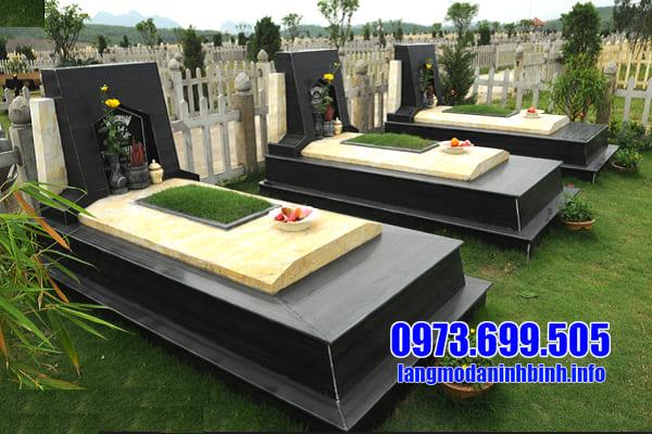 Lăng mộ đá granite đẹp Ninh Vân