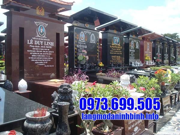 Lăng mộ đá granite đẹp tại Ninh Vân - Ninh Bình