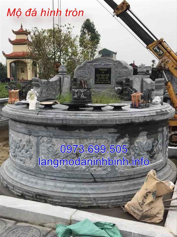 Lắp đặt khu lăng mộ đá hình tròn trên toàn quốc uy tín giá rẻ;