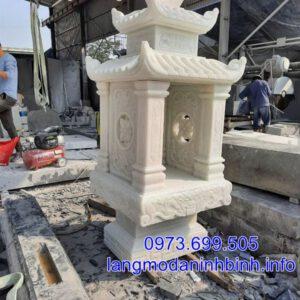 Mẫu bàn thờ thiên có mái bằng đá chuẩn phong thủy mang lại may mắn tài lộc