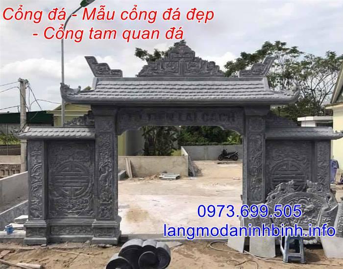 Mẫu cổng bằng đá đẹp - Mẫu cổng nhà thờ họ bằng đá đẹp nhất hiện nay