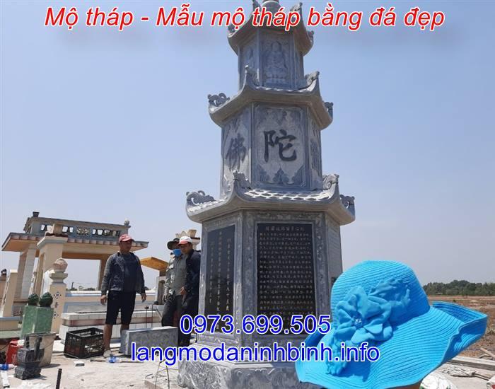 Mộ tháp phật giáo bằng đá xây để tro cốt hài cốt giá rẻ