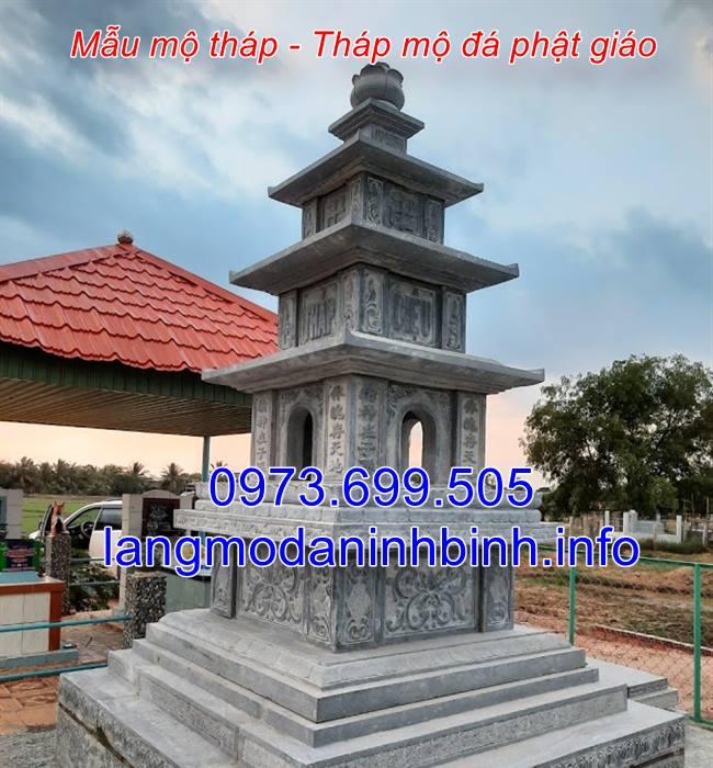 Tháp mộ đá phật giáo - Mẫu mộ tháp bằng đá đẹp