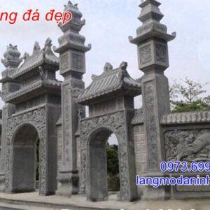 Mẫu cổng đá đẹp - Địa chỉ xây lắp mẫu cổng đá tự nhiên uy tín tại Ninh Bình;