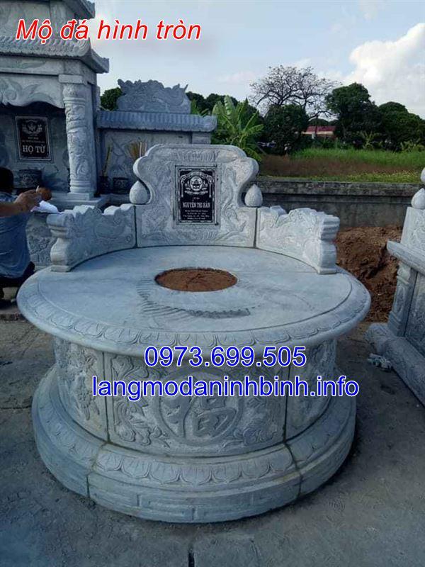 Ưu điểm của mộ đá tròn chế tác tai Ninh Bình;